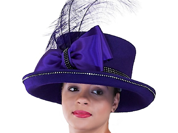 576d4956a0e Callie Ladies Church Hat - Red and Purple Hats - Aztex Hat Company