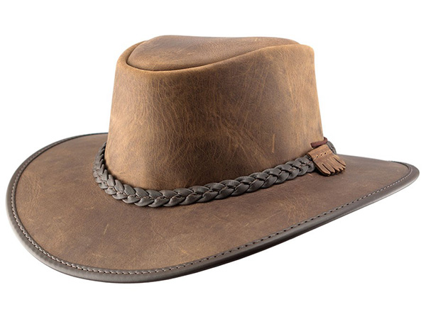 e2866aae7721e Head n Home Bravo Outback Leather Hat - Leather Western Hats - Aztex Hat  Company
