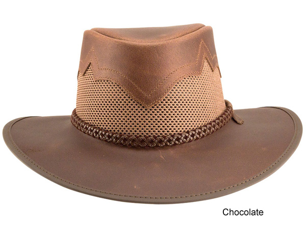 6c12edb4545 Head n Home Vented Western Hat - Leather Western Hats - Aztex Hat Company