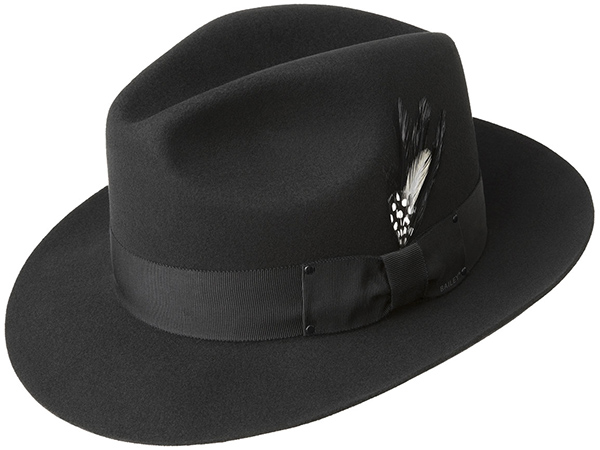 a794d5df Bailey Gangster Fedora Hat - 2X-3X Dress Hats - Aztex Hat Company