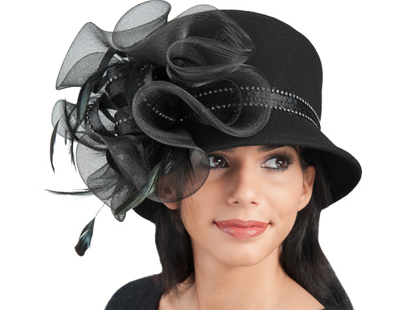 2769452b742 Ellie Wool Felt Ladies Dress Hat - All New Fall and Winter - Aztex Hat  Company