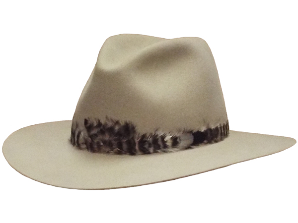 f8882862dc9a8 AzTex Hats Feather Teardrop Style Felt Cowboy Hat - All Custom Traditional  Felt Cowboy Hats - Aztex Hat Company