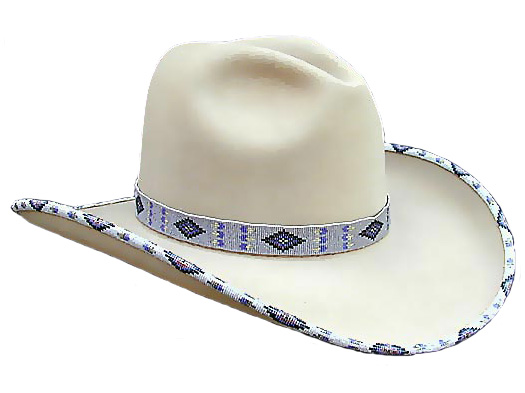 AzTex Navajo Beaded Cowboy Hat 50X - All 50X Custom Hats - Aztex Hat Company 5b2014e9fc9